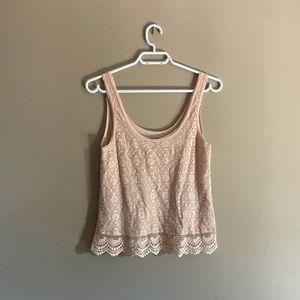 American Eagle   Lace Front Tank Top
